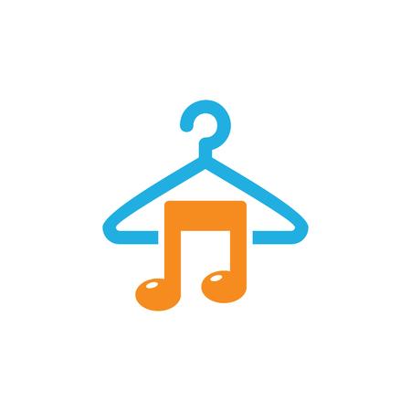 Laundry Music Logo Icon Design 向量圖像