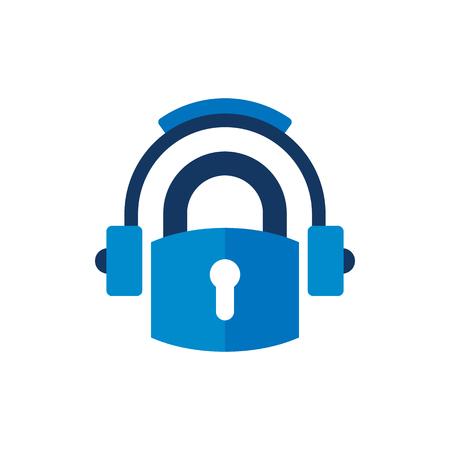 Security Music Logo Icon Design Reklamní fotografie - 101703405