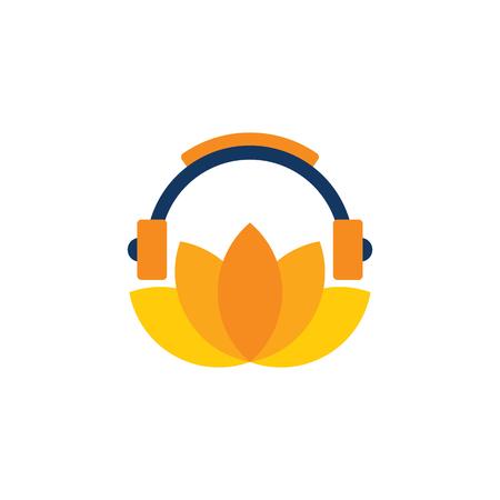 Diseño de icono de Lotus Music Logo Logos