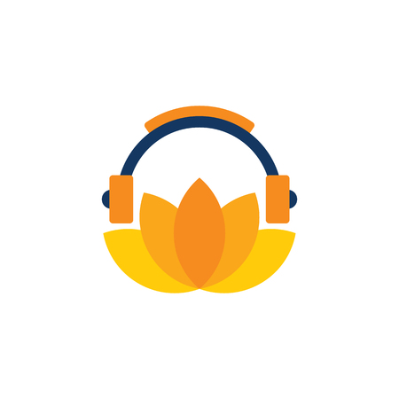 Lotus Music Logo Icon Design