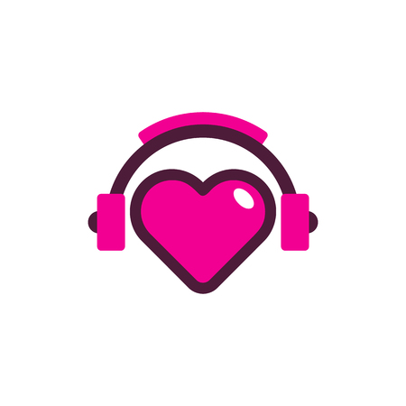 Love Music Logo Icon Design