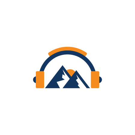 Mountain Music Logo Icon Design Фото со стока - 101703497