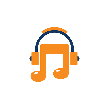 Headphone Music Logo Icon Design