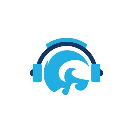 Wave Music Logo Icon Design