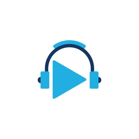 Video Music Logo Icon Design Illustration