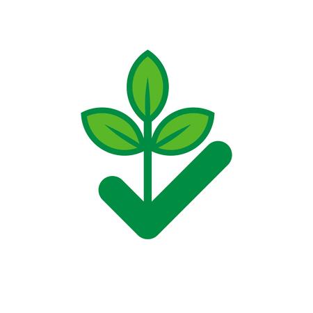 Check Nature Logo Icon Design Ilustração