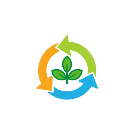 Recycle Nature Logo Icon Design Illustration