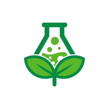Conception d & # 39; icône du logo Lab Nature Logo