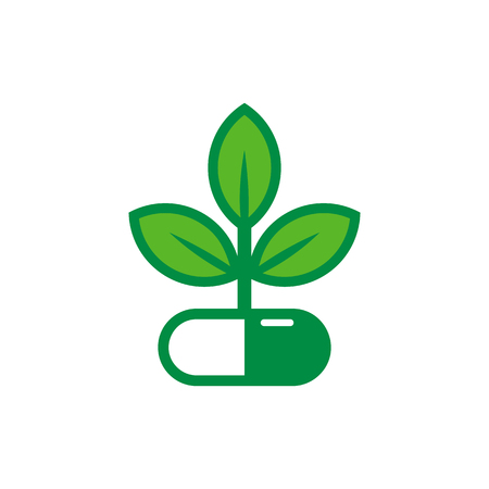 Medicine Nature Logo Icon Design