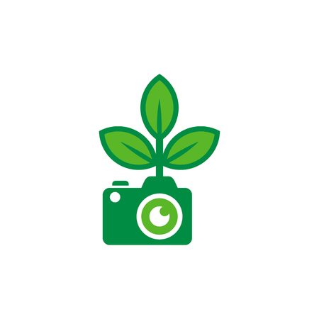 Camera Nature Logo Icon Design Illustration