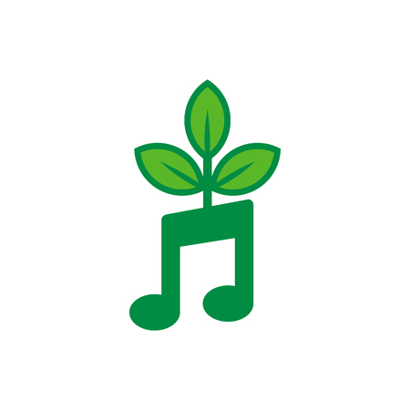 Music Nature Logo Icon Design
