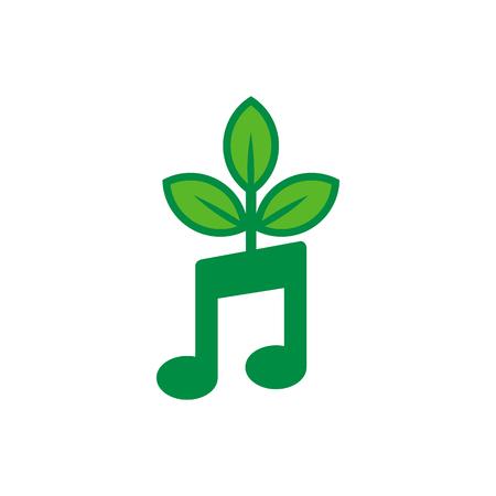 Music Nature Logo Icon Design