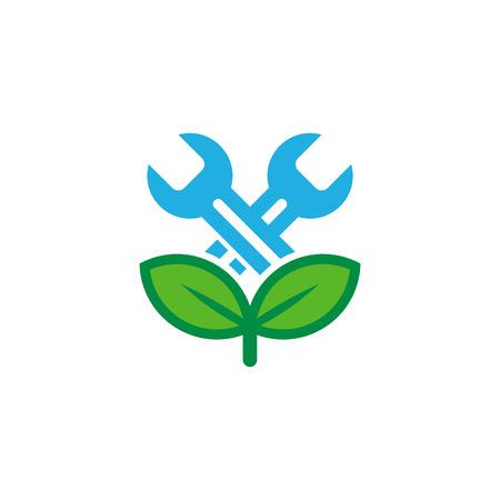Fix Nature Logo Icon Design