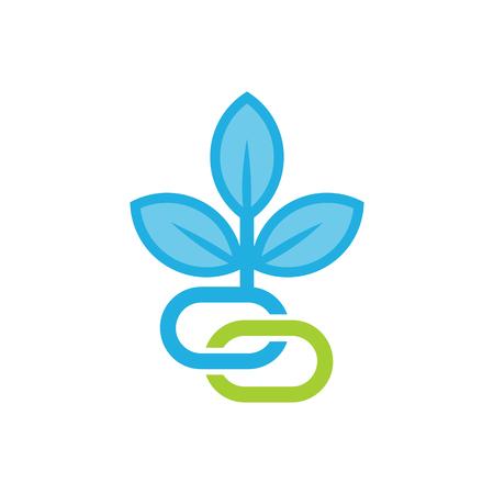 Connect Nature Logo Icon Design