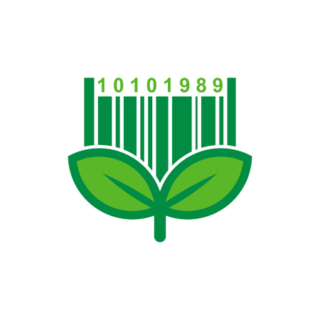 Barcode Nature Logo Icon Design