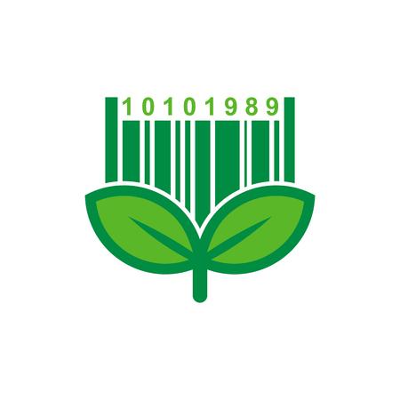 Projektowanie ikon logo z kodem kreskowym Logo
