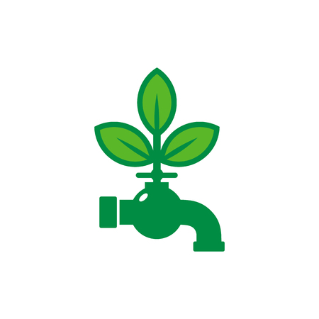 Plumbing Nature Logo Icon Design