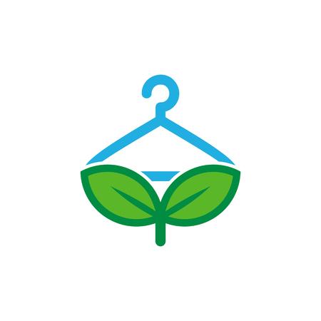 Laundry Nature Logo Icon Design