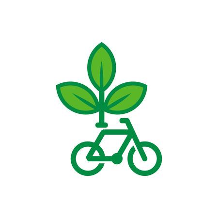 Bike Nature Logo Icon Design Stock Illustratie