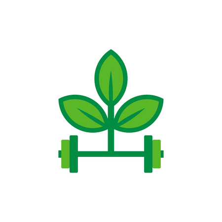 Barbell Nature Logo Icon Design