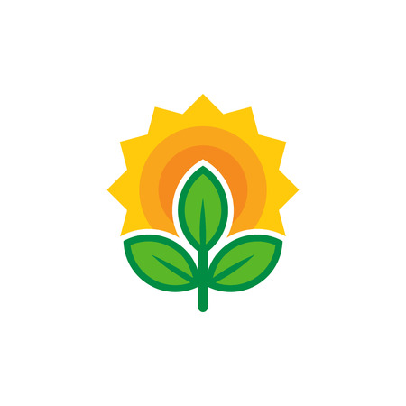 Sun Nature Logo Icon Design Illustration