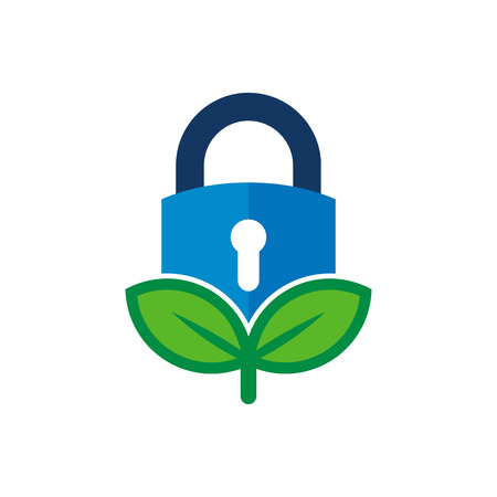 Security Nature Logo Icon Design Foto de archivo - 101703980