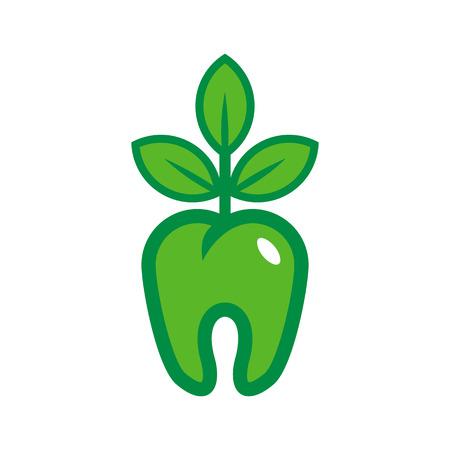 Dental Nature Logo Icon Design Illustration