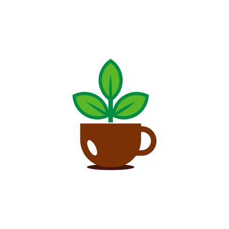 Coffee Nature Logo Icon Design
