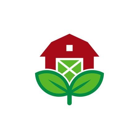 Barn Nature Logo Icon Design Illustration
