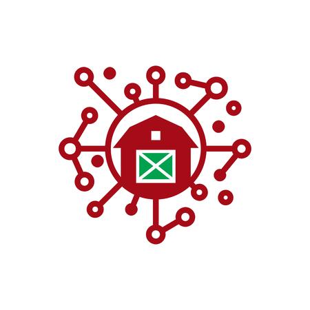 Farm Network Logo Icon Design