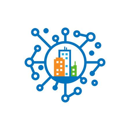 Town Network Logo Icon Design