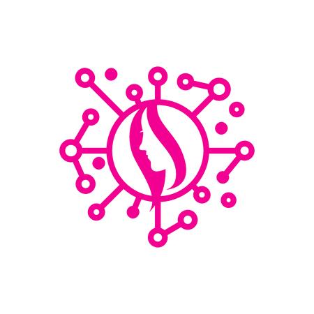 Beauty Network Logo Icon Design