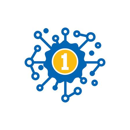 Best Network Logo Icon Design Illustration