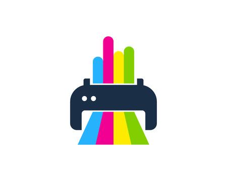 Conception d'icône de logo de peinture d'impression Logo
