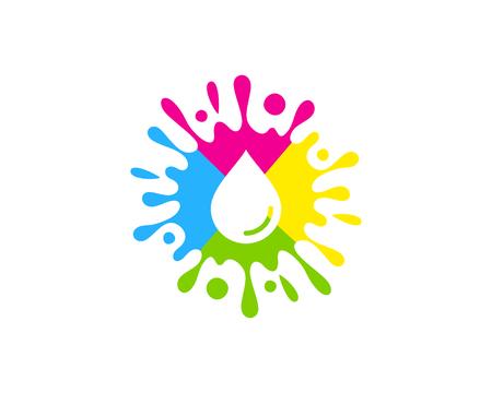 Splash Paint Logo Icon Design Illustration