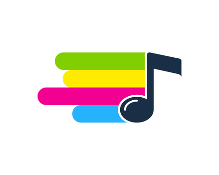 Melody Paint Logo Icon Design Stok Fotoğraf - 101766427