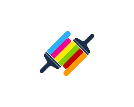 Connect Paint Logo Icon Design Illustration