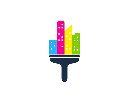 Town Paint Logo Icon Design