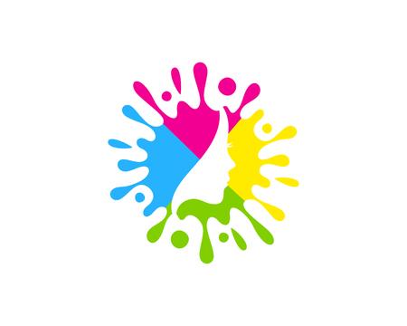 Beauty Paint Logo Icon Design