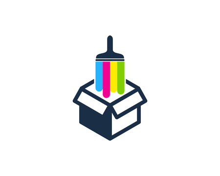 Box Paint Logo Icon Design