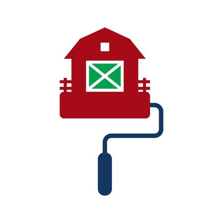Barn Paint Logo Icon Design