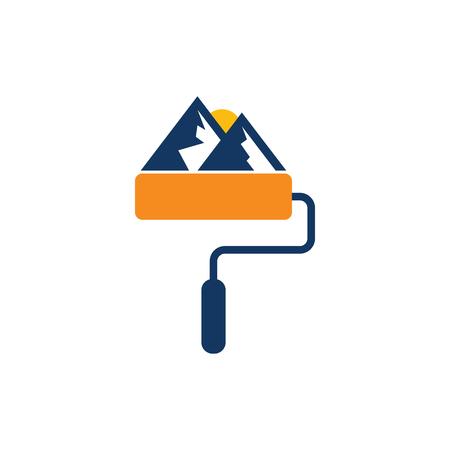 Mountain Paint Logo Icon Design