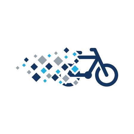 Bike Pixel Logo Icon Design