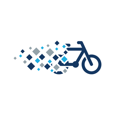 Bike Pixel Logo Icon Design