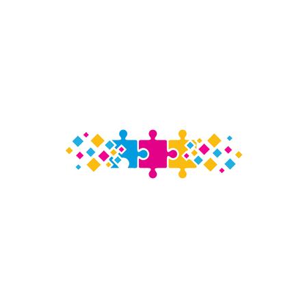 Puzzle Pixel Logo Icon Design