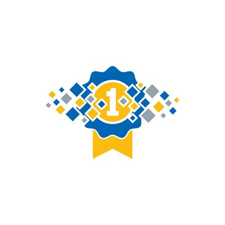 Best Pixel Logo Icon Design Stock Vector - 101766774
