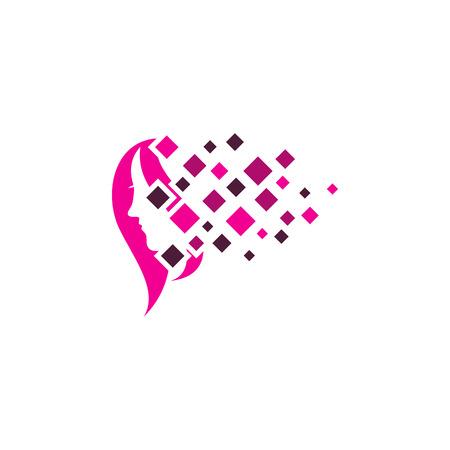 Beauty Pixel Logo Icon Design Stock Illustratie