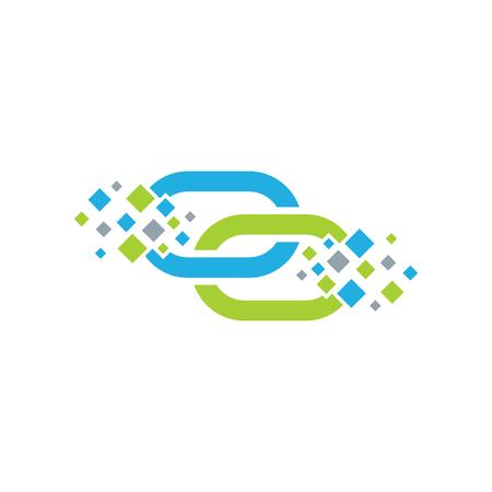 Connect Pixel Logo Icon Design