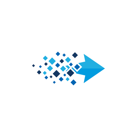 Arrow Pixel Logo Icon Design