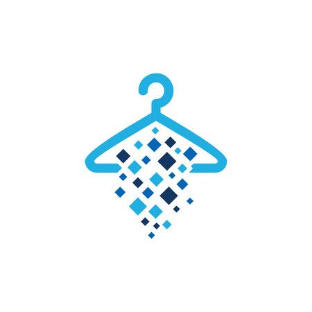 Laundry Pixel Logo Icon Design